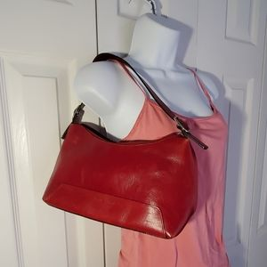 Wilson Leather Pelle Studio Red Leather Bag